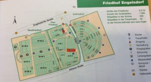 Karte des Friedhofs in Engelsdorf