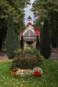 Grabpflege Leipzig - Einsatzorte / Friedhöfe ,Kapelle auf dem Friedhof in Sellerhausen