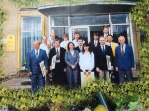Gruppenfoto der ersten Friedhofsgärtnermeister in Sachsen
