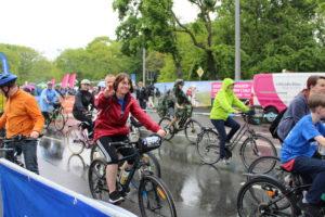 Mitarbeiter der Blumenhalle beim LVZ Fahrradfest