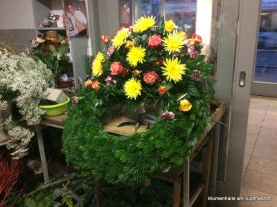 Blumenhalle am Südfriedhof – Ausbildung Floristik der Kranz