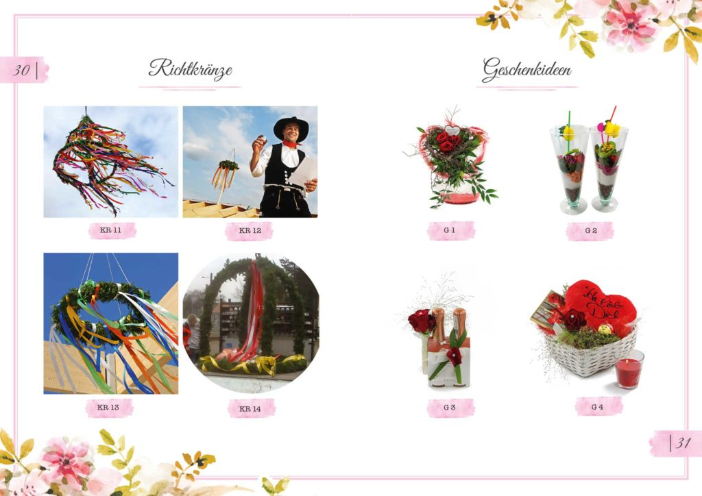 Richtkränze und Geschenkideen Floristik