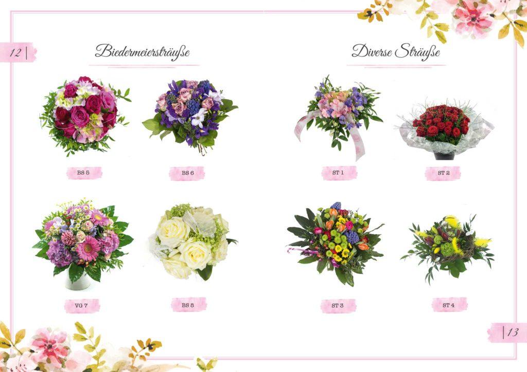 Biedermeiersträuße und Diverse Sträuße Floristik