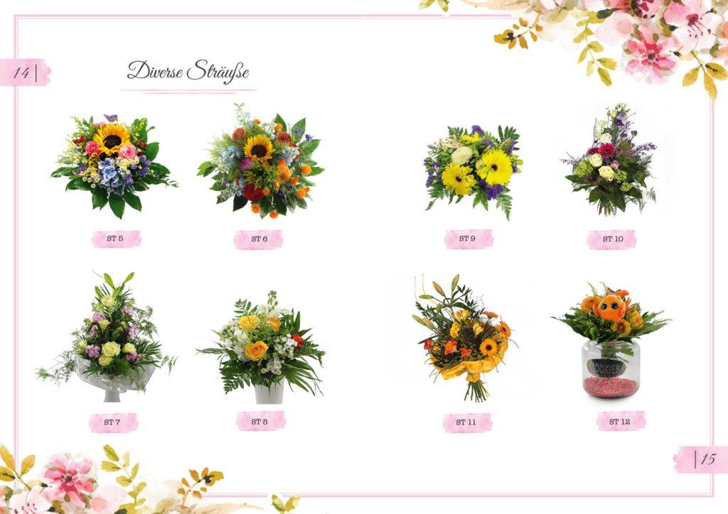 Diverse Sträuße Floristik