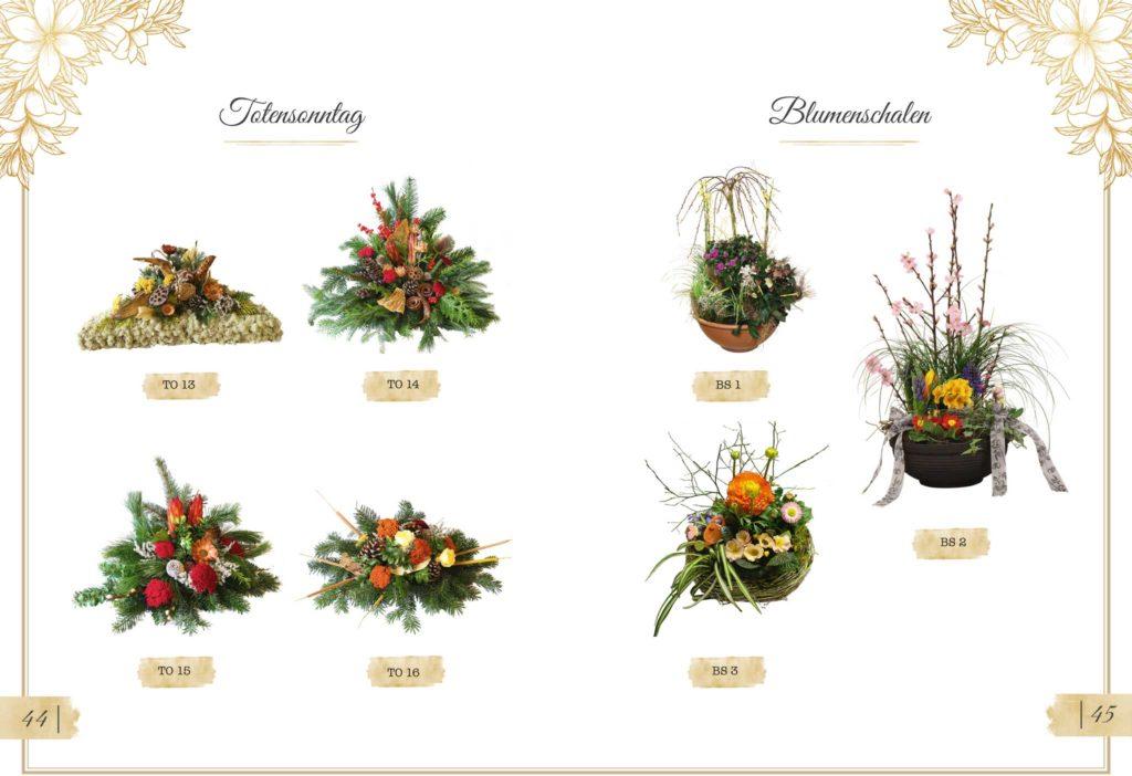 Trauerfloristik Totensonntag und Blumenschalen